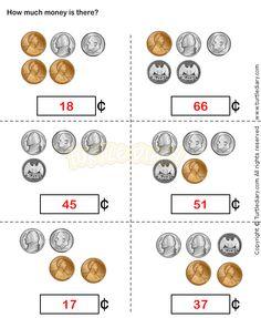 Counting Coins Worksheet 15 - math Worksheets - grade-1 Worksheets