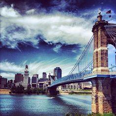 #Roebling Suspension Bridge in #Cincinnati