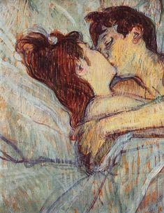 Detail of painting by Henri de Toulouse Lautrec.
