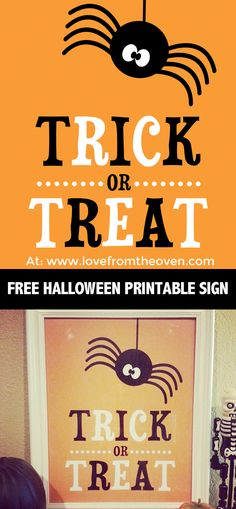 Free Printable Halloween Sign.  Super cute, just print and put in a frame!