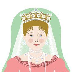 Alexandra Feodorovna Romanova Matryoshka Art Print by AmyPerrotti, $4.00