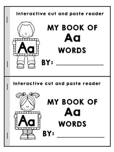 My Book of Aa Words >> Part of the Alphabet Adventures Program >> Download the Letter A Packet for FREE!
