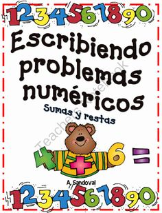Adding and Subtracting Word Problems in Spanish from Angelica Sandoval on TeachersNotebook.com (36 pages)  - Students create and write their own word problems using pictures and graphic organizer.