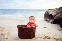 baby beach photographer