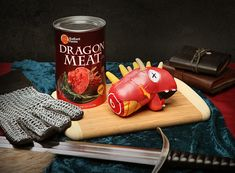 Canned Dragon Meat #packaging.PD
