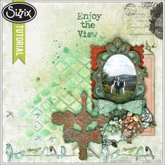 Sizzix Die Cutting Tutorial | Enjoy the View Layout by Jan Hobbins