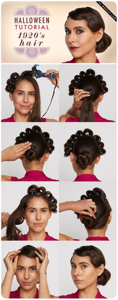 how to do 1920s flapper hair, finger wave included // #halloween