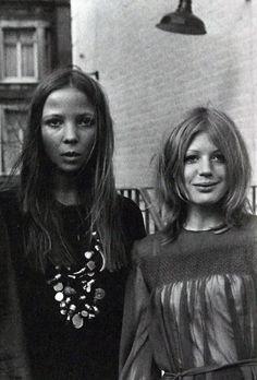 Penelope Tree and Marianne Faithfull