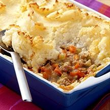 Weight Watcher's Shepherd's Pie •  2 large potatoes, peeled and cut into 2-inch pieces • 1/4 cup nonfat sour cream • 1 tablespoon reduced-calorie margarine • 1/8 teaspoon table salt • 2 teaspoons...