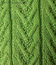 V-twisted knit stitch knitting stitches
