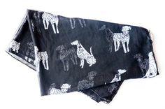 The Black Dalmatian Scarf $14