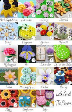Tutorials from 19 cookie decorators on beautiful flower cookies