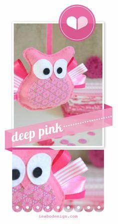 handmad pink, happi diy, des enfant, la déco, projet coutur, déco des, felt food, pink owl