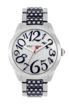 Betsey Johnson Polka Dot Bracelet Watch - watches, polka dots, what's not to love? If you need a Christmas gift idea for me *hint hint*