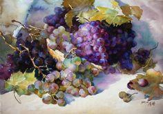 Guan Weixing. Grapes. natur mort, guan weix