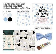 Bow tie themed baby shower inspiration