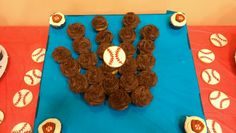 Baseball Mit out of cupcakes for baseball themed party...created by me!