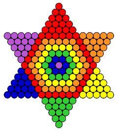 Rainbow Star Perler Bead Pattern