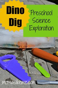 Dinosaur Ice Dig - Science Exploration for Preschool dinosaur ice, preschool, dinosaur theme