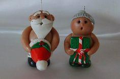 polym clay, nake santa