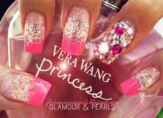 Cute,Trendy,Diamond,Casual,Urban,Makeup for Party,Prom,Bling Bling Pink Nails - Love It So Much