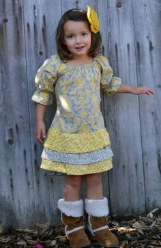 Maggie Dress Girl's ruffle Dress sewing pattern, easy pattern, child sewing pattern, sundress, toddler dress, infant dress, beginner sewing pattern