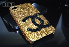 LUXURY GOLD SWAROVSKI CRYSTAL CHANEL IPHONE 4 CASES | IPHONE CASES & COVER