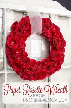 DIY Paper Rosette Wreath