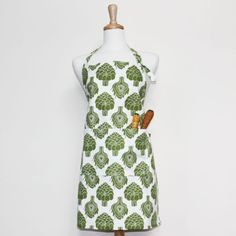 Foxy & Winston organic cotton adult apron in assorted patterns