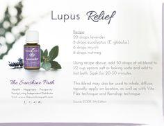 Young Living Essential Oils: Lavender Nutmeg Myrrh Eucalyptus for Lupus