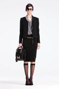 DVF   Karl Jacket In Black, Pre-Fall 2012: Macadam Diva
