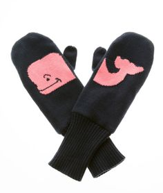 Winter Whale Mittens