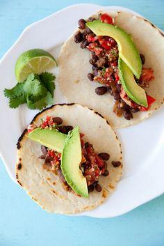 Spicy Black Bean Tacos | Annie's Eats