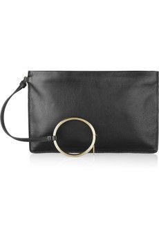 Jil Sander Noyce leather clutch