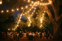 would love a reception like this, backyard wedding