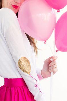 DIY Balloon Elbow Patches | @StudioDIY  #cricutexplore