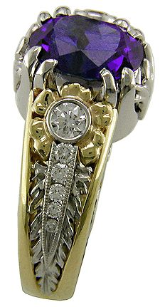 Tanzanite and Diamond Ring...love it!