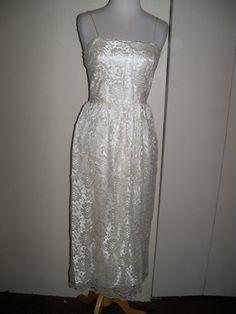 vintage lace spaghetti straps wedding dress $50