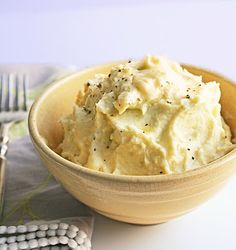 """Better than Potatoes""       Cheesy Cauliflower Puree  Ingredients:    1 head of cauliflower  2 Tbl heavy cream  1 Tbl butter  2 ounces dubliner or other sharp cheese  salt and pepper to taste"