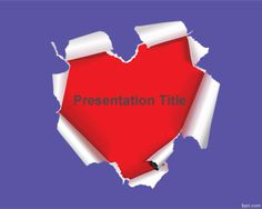 Free Love Frame PowerPoint Template