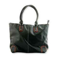 S/S 2013 NEW ARRIVAL Green and Dark Brown Colour Tote Bag in Silvertone