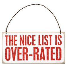 Nice List Box Sign Plaque $2