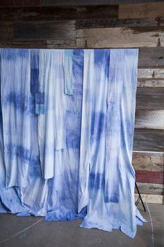 photo backdrop idea, hand dyed fabric