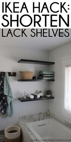 Ikea Hack: Shortening Lack Shelves