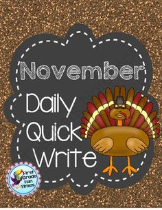 Quick Writes - November from First Grade Fun Times on TeachersNotebook.com -  (18 pages)  - Writing Foldables for Daily Quick Writing