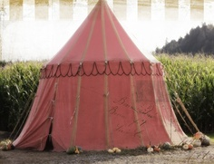 A bit of traveling circus & gypsy. Dusty rose tent