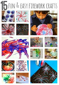 15 Fun and Easy Firework Crafts for the 4th of July