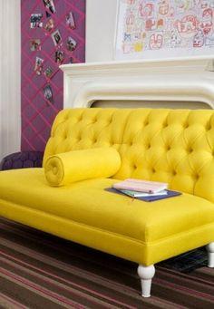 yellow sofa by kathy