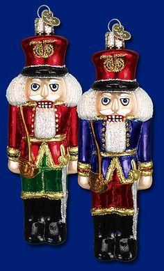 Soldier Nutcracker,  Christmas Glass Ornaments  www.oldworldchristmas.com