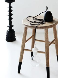 Contact paper on stool legs